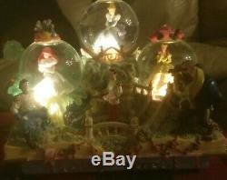 Rare Disney Share a Dream Come True Fairy Tales Snow Globe Parade music & lights