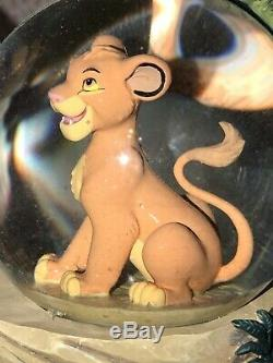 Rare Disney Store 28565 The Lion King Mufasa Simba Musical Snow Globe