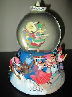 Rare/Disney THREE CABALLEROS Musical Snowglobe (LA CUCARACHA)