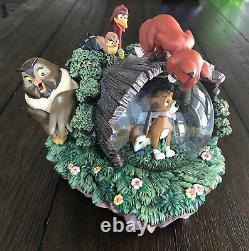 Rare Disney The Fox And The Hound Snow Globe Music Box Non Working Read Desc