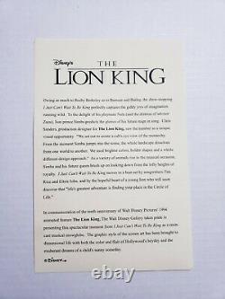 Rare Disney The Lion King 10th Anniversary 18 Musical Rotating Snowglobe in Box