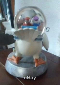 Rare Disney The Rescuers Albatross Airlines Snow Globe Musical Collectible