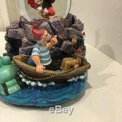 Rare, Retired Disney Peter Pan musical snow globe tick tic croc, Wendy, Tiger Li