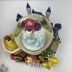 Rare Retired Disney Princess Musical Snow Globe Ariel Cinderella Snow White Bell