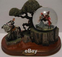 Rare Vintage Musical Storybook Walt Disney Snow Globe Sleeping Beauty & Prince