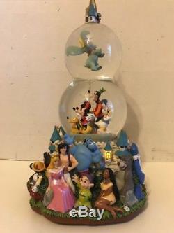 Rare Walt Disney Theme Park Exclusive Musical Parade Double Snowglobe Dumbo