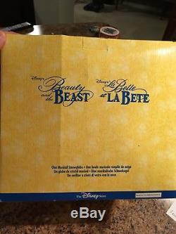 Retired Disney Beauty and the Beast Musical ORIGINAL FILM Snowglobe 1991 9.5