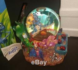 Retired Disney Pixar A Bugs Life Snowglobe Music Box Waterglobe has Box and Tag