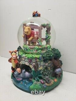 Retired Disney Winnie the Pooh Musical Snow Globe Rare Great Condition