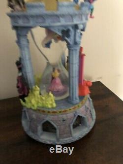 Sleeping Beauty RARE Hourglass Musical Light-Up Disney Snowglobe