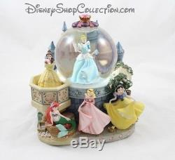 Snow globe musical Princesse DISNEY Cendrillon, Belle, Ariel, Aurore chateau