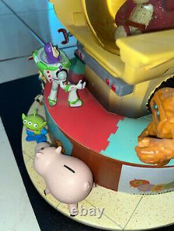TOY STORY Snow Globe DISNEY Music Box WOODY Genuine Bear Pixar1995 Does not work