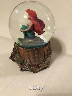 The Disney Store The Little Mermaid Ariel Bronze Snowglobe Musical