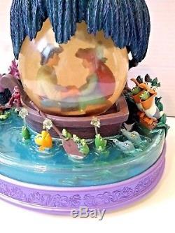The Little Mermaid Kiss the Girl Musical Snow Globe Ariel Eric Disney
