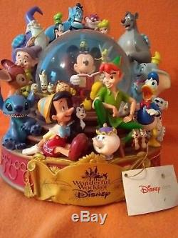 The wonderful world of disney musical snow globe