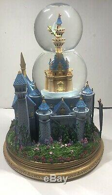 Tinker Bell Castle Musical Snow Globe Vintage Disney Snowglobe Tinkerbell