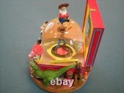 Toy Story 2 Woodys Deputy Roundup Record Player Snow Globe Music Box Disney