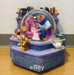 Used Disney Beauty and the Beast snow dome music box snow gloves collection