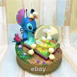 Used Disney Lilo & Stitch The Ugly Duckling Snow Globe Music Box TDL Only 100