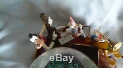 VERY Rare Disney Mickey Mouse Music snow globe retired Mickey Mouse March