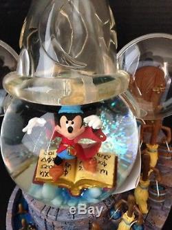 VTG Disney's Fantasia The Sorcerer's Apprentice Musical Snow Globe RARE