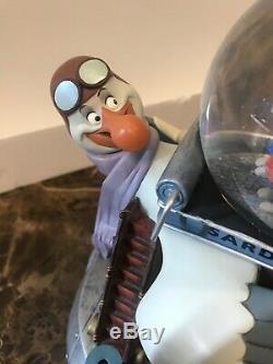 Vintage 1976 Disney Store 96284 Rescuers Albatross Airlines Musical Snow Globe