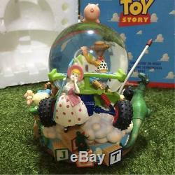Vintage 1995 Toy Story Woody & buzz Snow globe music box rare Disney Pixar Boxed