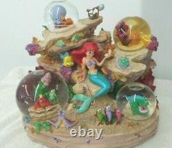 Vintage DISNEY Little Mermaid Under The Sea Musical Snow Globe