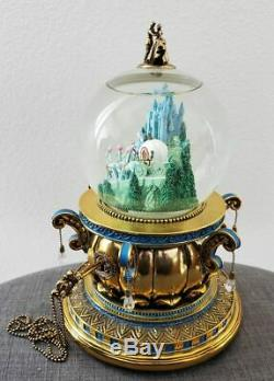 Vintage Disney Cinderella Pumpkin Carriage Musical Snowglobe Coach Globe Rare