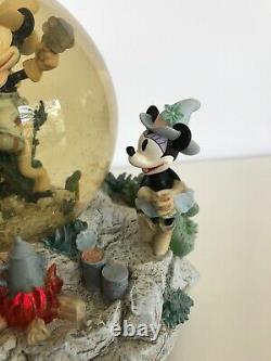 Vintage Disney Mickey Home On The Range SnowGlobe Lights Up, Music, Animated