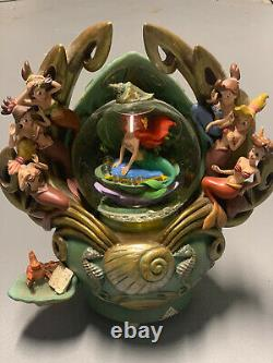 Vintage Disney The Little Mermaid Daughters of Triton Musical snow globe- RARE