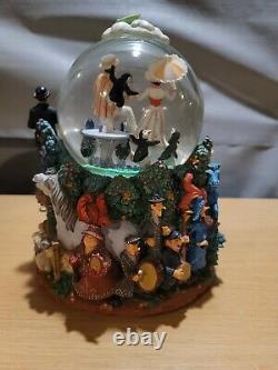 Vintage RARE Disney Snow Globe Mary Poppins Lets Go Fly A Kite Musical