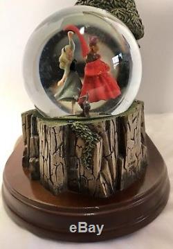 Vtg Disney Sleeping Beauty Musical Storybook Snow Globe Once Upon A Dream RARE