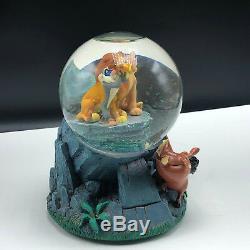 WALT DISNEY SNOWGLOBE snowdome water ball Lion King music box Circle Life Simba