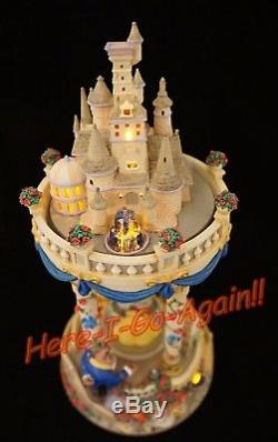 WOW! Disney HOURGLASS MUSICAL LIGHT-UP SNOW GLOBE New in box BEAUTY & THE BEAST