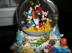 Walt Disney A Magical Gathering Double Snow Globe Castle Musical Dumbo & MORE
