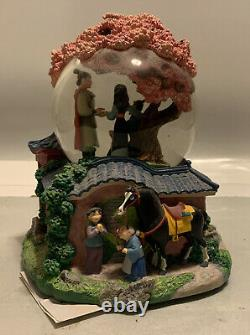 Walt Disney Classic Mulan Reflection Musical Snow Globe Rotating Little Brother
