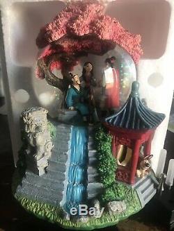 Walt Disney MULAN REFLECTIONS Music Box SNOW GLOBE Rare Mushu Shang New