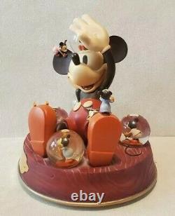 Walt Disney Mickey Mouse Mickeys Nightmare 1932 Commemorative Musical Snow Globe
