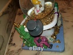 Walt Disney Snow Globe Scrooge McDuck In Bathtub Musical Money Collectible, RARE