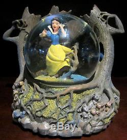 Walt Disney Snow White in Haunted Woods Musical, Lighted, Motion Snow Globe HTF