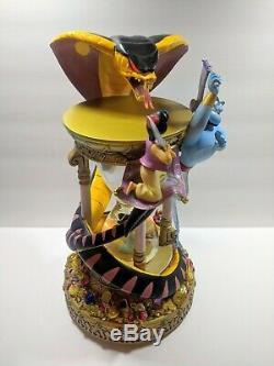 Walt Disney World Aladdin Hourglass Snowglobe Music Lights Work 10% OFF