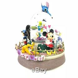 Walt Disney World Huey Dewey Louie Musical Snow Globe with Blower