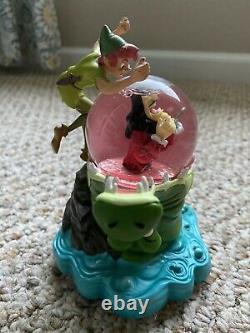 Walt Disney World Peter Pan Tick Tock Musical Snow Globe