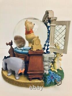 Winnie The Pooh Snow Musical Globe New Disney Store