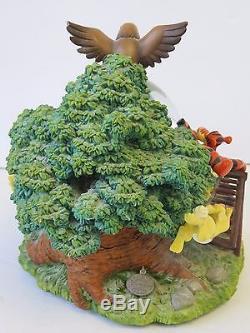 Winnie the Pooh Musical Snow Globe 1963 Wonderland Music Co Disney Sankyo 8 ES1