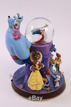 Wonderful World of Disney Sorcerer Mickey Genie Light Up Musical Snow Globe